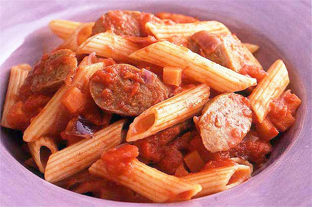 Camp Kitchen Favourite – Sausage Penne Pasta