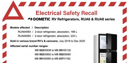 Dometic Recall 2 Door Absorption 3 way Refrigerator