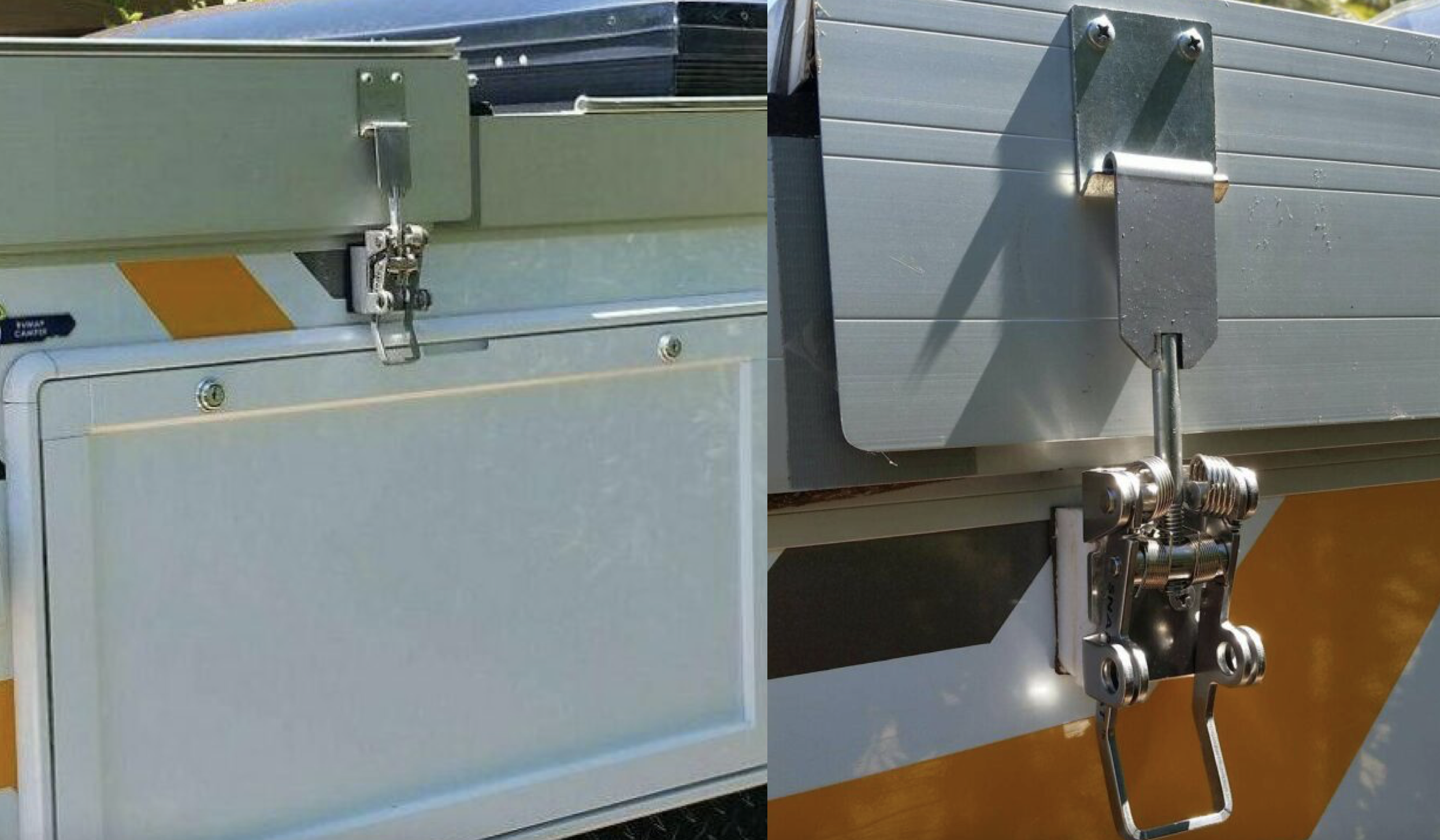pop-top latches - retrofit snap-flat latch