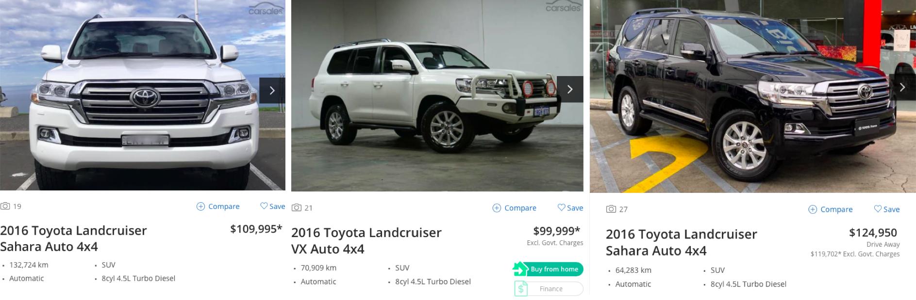 landcruiser - second hand market