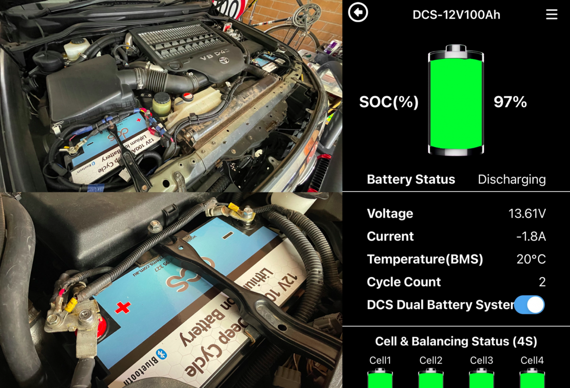 DCS Lithium dual battery system installation