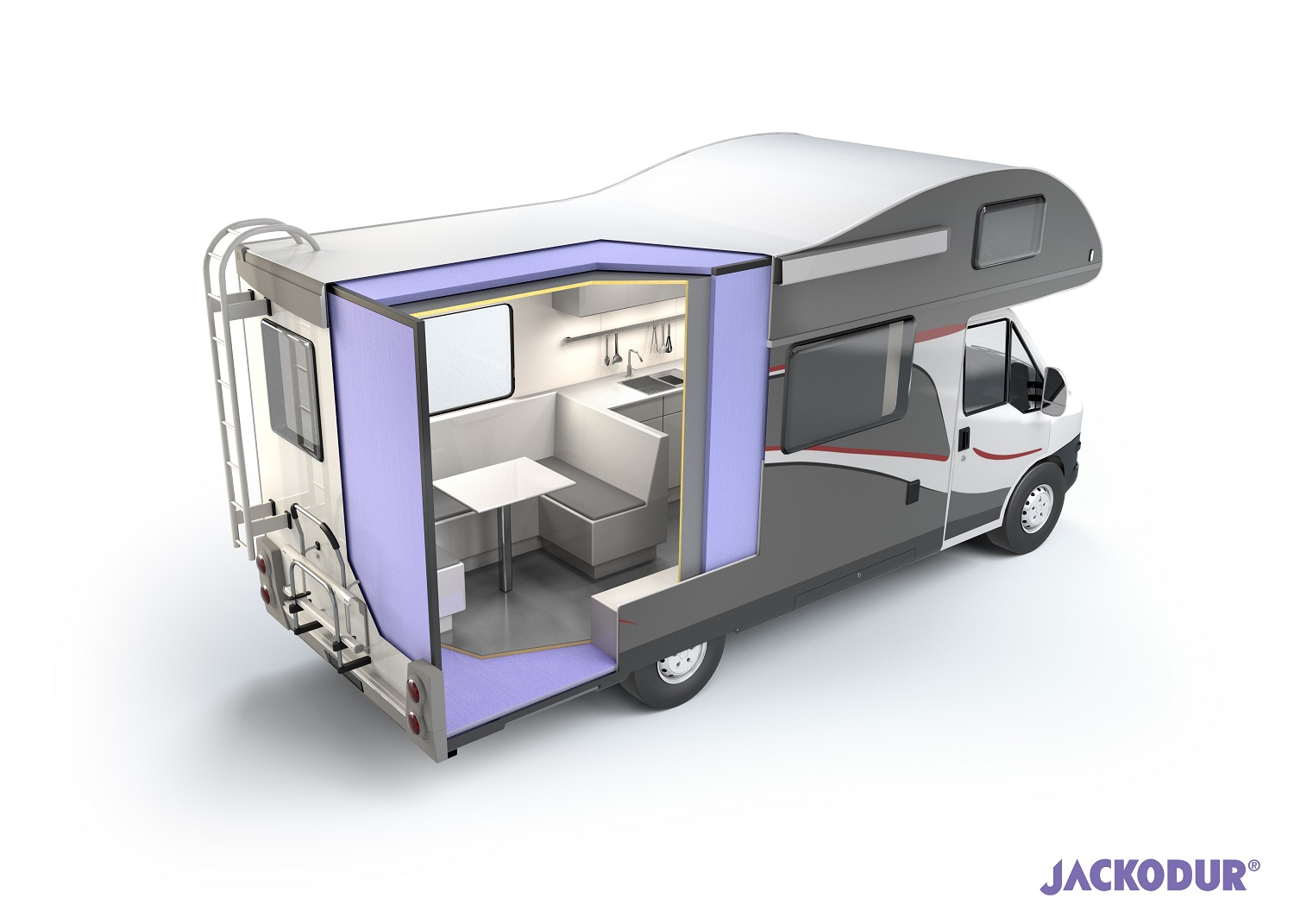 Cutaway showing RV composite panel use
