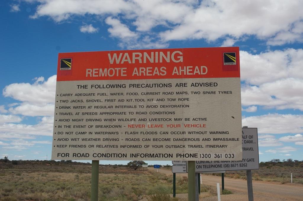 Remote Area Sign