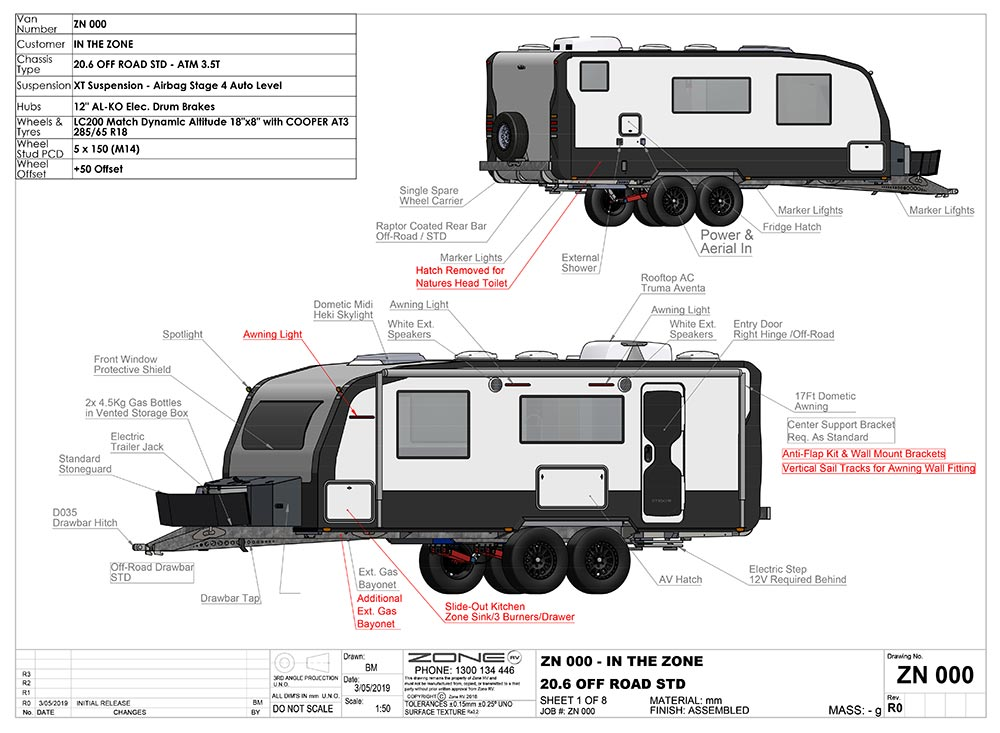 Caravan engineering - Zone RV CAD