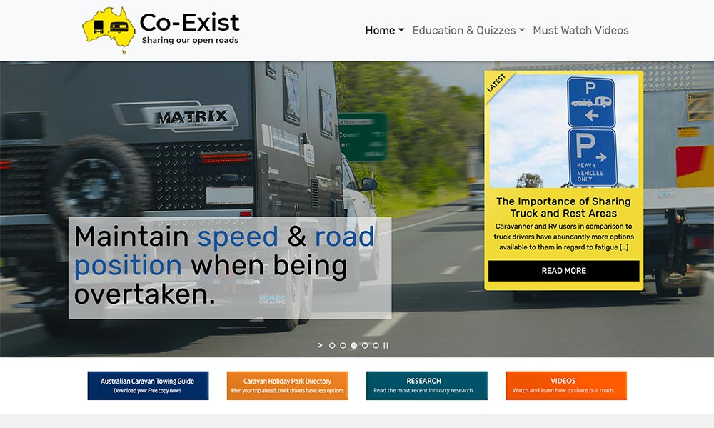 Co Exist Landing Page