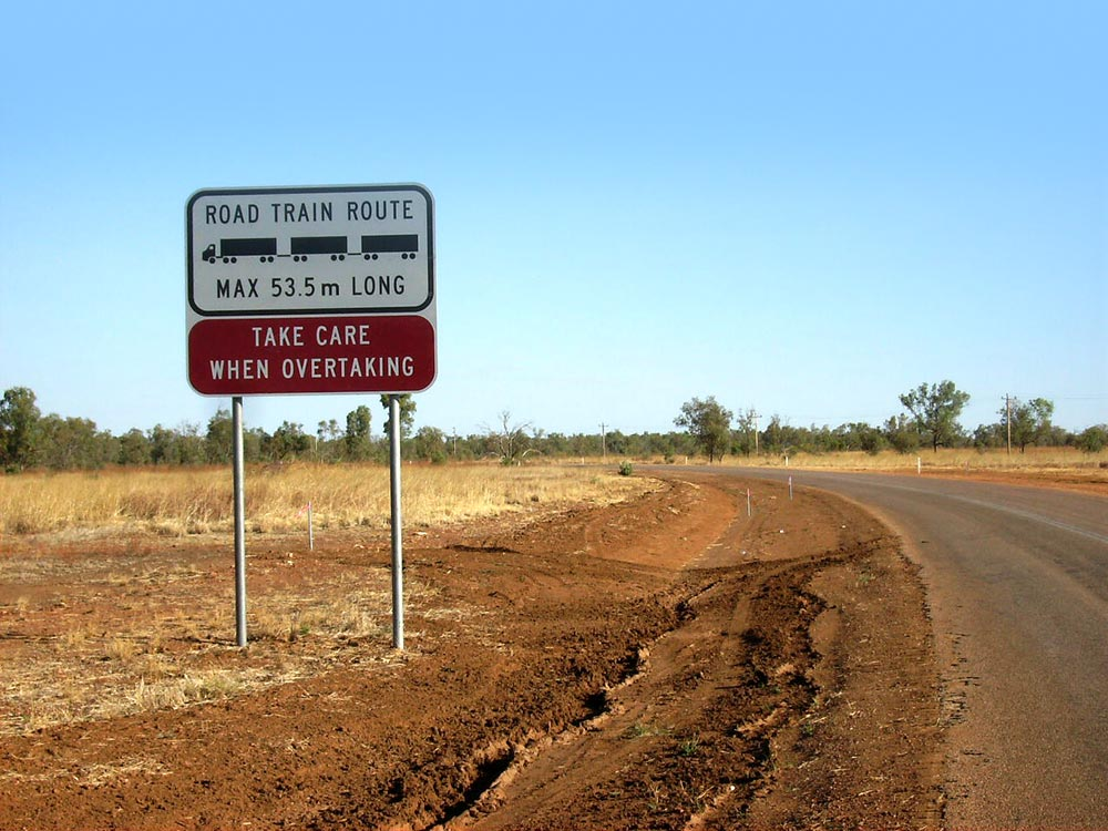 Rvd049 Ed Guide Truckies Vs Caravanners Road Safety 5a 1000px Road Train Sign Australia