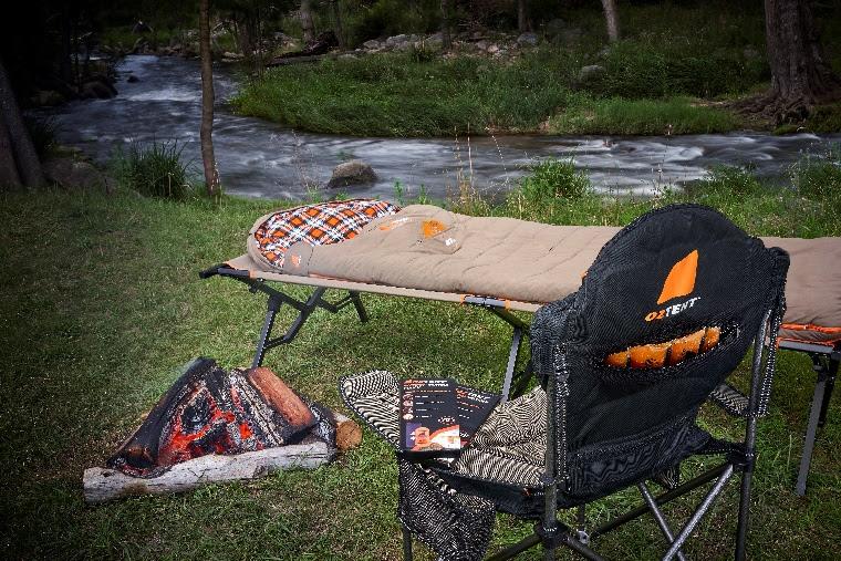 Oztent Redgum Hotspot sleeping bag - campsite
